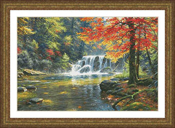 Tranquil Falls - Cross Stitch Pattern