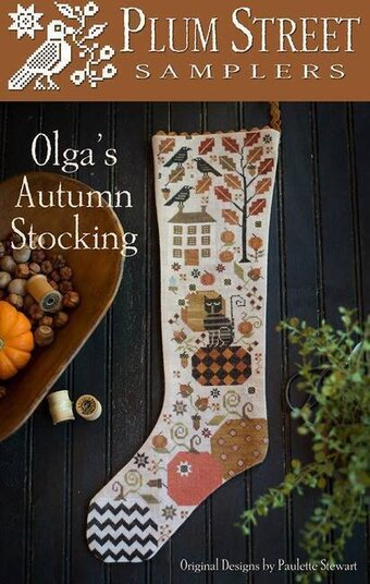 Olga's Autumn Stocking - Cross Stitch Pattern