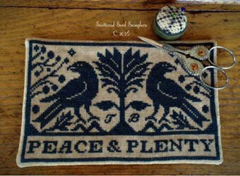 Peace & Plenty Scissor Mat - Cross Stitch Pattern