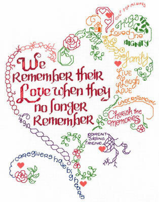Let's Remember Alzheimers - Cross Stitch Pattern
