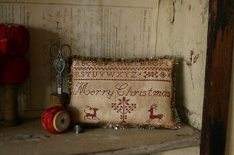 Merry Christmas Pinkeep - Cross Stitch Pattern