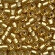 Frosted Gold Glass Pony Beads - Size 6/0 (4mm)