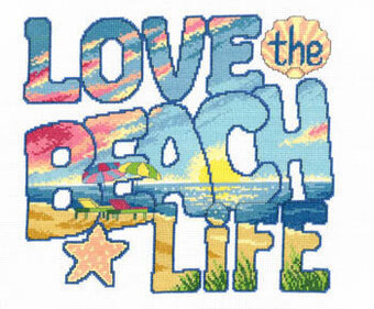 Love the Beach Life - Cross Stitch Pattern