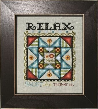 Relax - 8 Hands Around Quilt Block - Cross Stitch Pattern