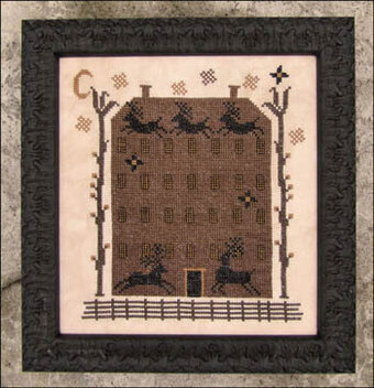 Up on the House Top - Cross Stitch Pattern