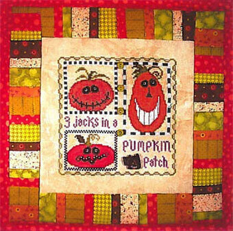 3 Jacks in a Pumpkin Patch - Cross Stitch Pattern