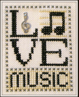 Love Music - Cross Stitch Pattern