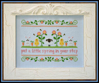 Spring In Your Step - Cross Stitch Pattern
