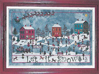 December Snow - Cross Stitch Pattern