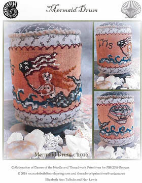 Mermaid Drum - Cross Stitch Pattern
