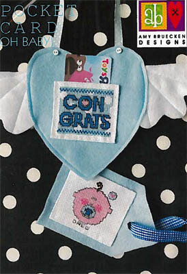 Oh Baby Pocket Card - Cross Stitch Pattern