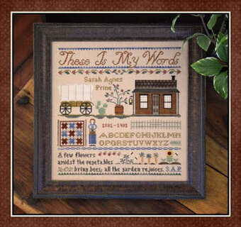 These is My Words - Cross Stitch Pattern
