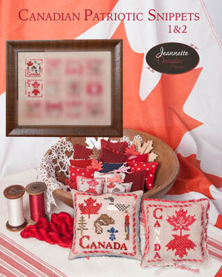 Canadian Patriotic Snippes Part 1 & 2 - Cross Stitch Pattern