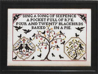 Four & Twenty Black Birds - Cross Stitch Pattern