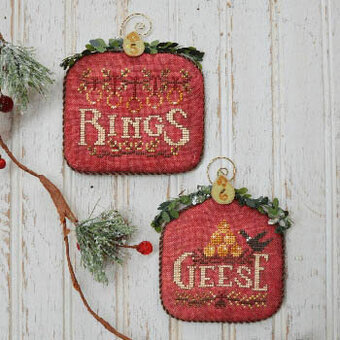 12 Days Rings & Geese - Cross Stitch Pattern