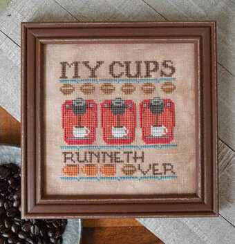 My Cups Runneth Over - Cross Stitch Pattern
