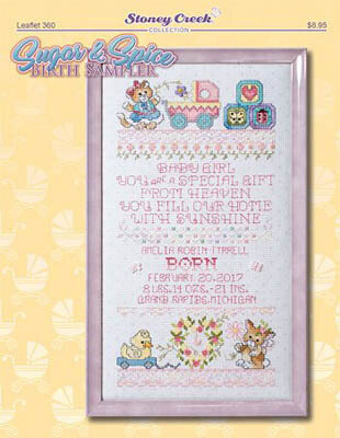 Sugar & Spice Birth Sampler - Cross Stitch Pattern