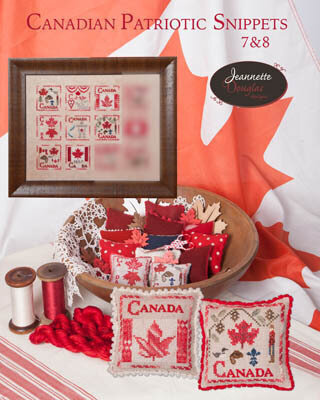 Canadian Patriotic Snippets 7 & 8 - Cross Stitch Pattern