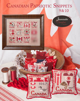 Canadian Patriotic Snippets 9 & 10 - Cross Stitch Pattern