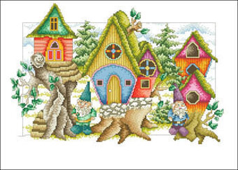 Gnome Home - Cross Stitch Pattern