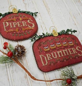 12 Days Pipers & Drummers - Cross Stitch Pattern