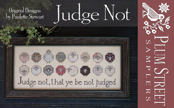 Judge Not - Cross Stitch Pattern