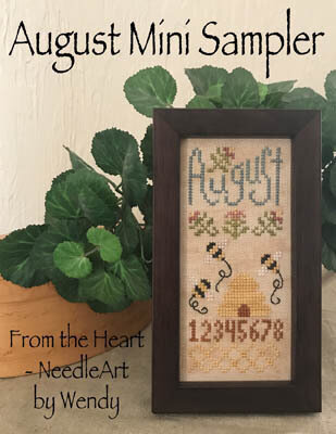 August Mini Sampler - Cross Stitch Pattern