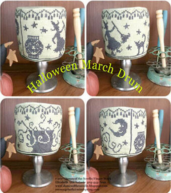 Halloween March Drum - Cross Stitch Pattern