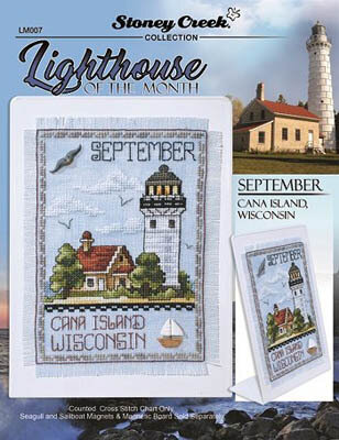 Lighthouse of the Month - September - Cross Stitch Pattern