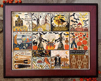 Halloween at Hawk Run Hollow - Cross Stitch Pattern