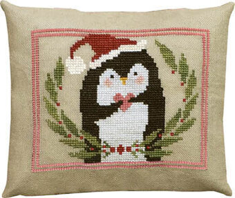 Pinny Penguin's Heart of Christmas  - Cross Stitch Pattern
