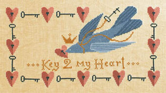 Key 2 My Heart - Cross Stitch Pattern