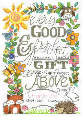 Forest Baby Birth Record - Cross Stitch Pattern