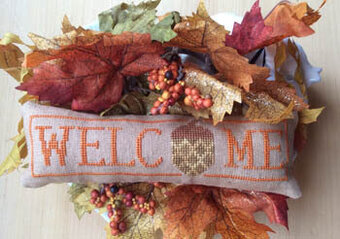 Wee Welcome - November Acorn - Cross Stitch Pattern