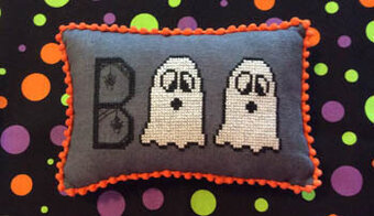 Ghostly Boo - Cross Stitch Pattern