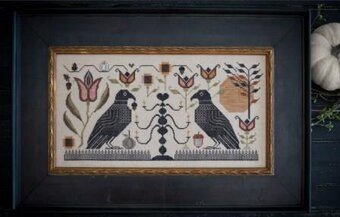 Blackbird Fraktur - Cross Stitch Pattern