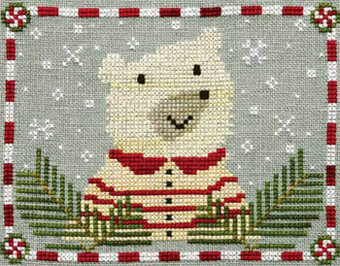 Peppermint Polar Bear - Cross Stitch Pattern