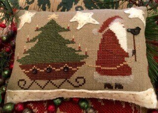 Santa's On His Way - Cross Stitch Pattern