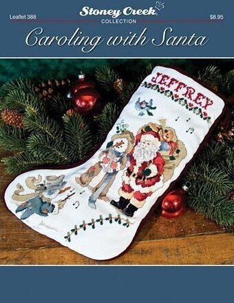 Caroling with Santa Stocking - Cross Stitch Pattern