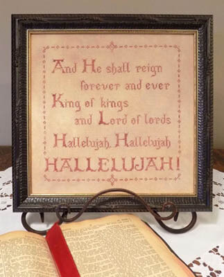 Hallelujah - Cross Stitch Pattern