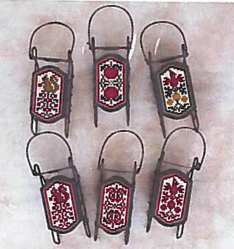 Apples & Berries Sleds - Cross Stitch Pattern