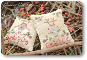Santa's Cat & Dog - Cross Stitch Pattern