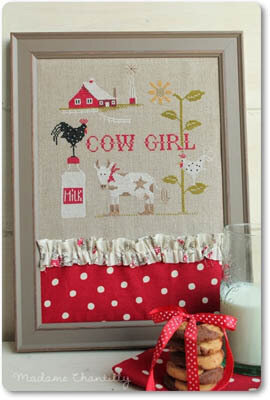 Cow Girl - Cross Stitch Pattern