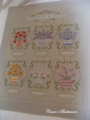 Giardino D Estate (Summer Garden) - Cross Stitch Pattern