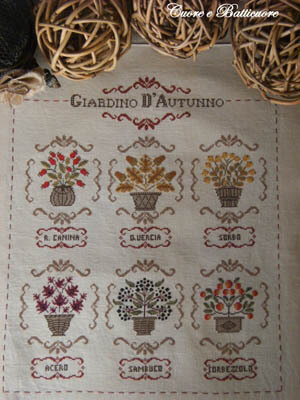 Giardino D'Autunnon (Autumn Garden) - Cross Stitch Pattern