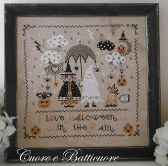 Halloween in the Rain - Cross Stitch Pattern