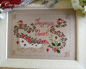 Natale In Slitta (Christmas Sleigh) - Cross Stitch Pattern