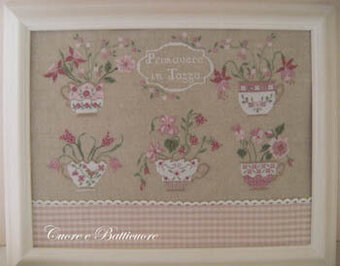 Primavera in Tazza (Spring in Cup) - Cross Stitch Pattern