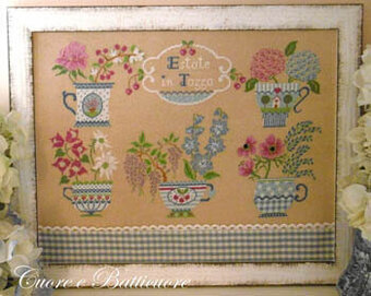 Estate in Tazza (Summer in Cup) - Cross Stitch Pattern