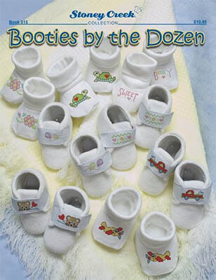 Booties by the Dozen - Cross Stitch Pattern
